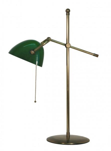 Bankers Lamp / Bankerlampe / Schreibtischleuchte, Modern Stil, Messing antik-handpatiniert (Altmessing), Höhe 56 cm, 230 V, E14 40 W